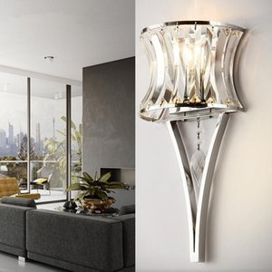 Modern LED Crystal Industrial Decor Wall Lights Pentamentoaira Home Deco Lampara Pared Bedroom