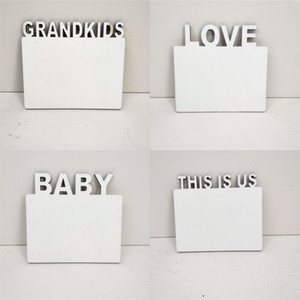 Lettering Photos Board 180*150*5mm Sublimation Blank Picture Frame DIY White Family Frames Ornaments Art Rectangle 8 6bd G2
