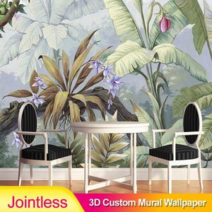 Jointless Modern Style Pastoral Rain Forest 3D Mural Wallpaper Living Room Bedroom Gallery Restaurant Backdrop Wall Papers