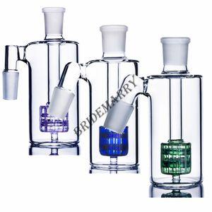45 90 Degree Filter purple Drum Perc Ash Catcher 14mm 18mm Thick Ashcatcher Percolator Glass Ash Catcher Free Shipping