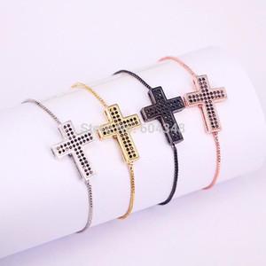 10pcs zyunz bijoux black cz cuivre métal micro pavé cubique zircone bracelets pour femmes hommes bijoux