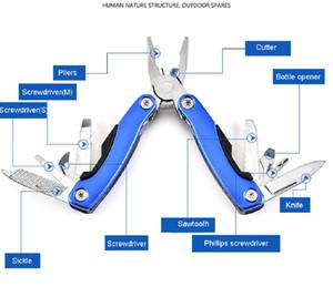 Alicates Multi Función de supervivencia Mini Pinzas plegables que incluyen el destornillador de la cuchilla de la nave de la nave de la nave al aire libre Albierno de herramientas de mano GWD3659