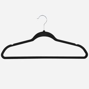 Non-Slip Flocked Velvet Hangers Clothes Hangers Suit Shirt Pants 100