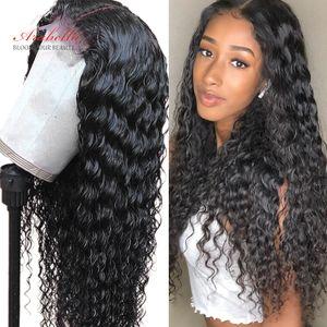 Wig WIg WIG WIG WIG Human Human Cabelo Perucas dianteiras com cabelo bebê Preplucked para mulheres negras Remy Lace Frontal Wig Headband Wig