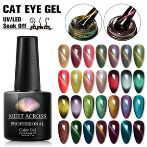 MEET ACROSS Cat Eye Series Nail Gel Polish 7ml Nail Art Design Manicure Semi Permanent 3D Gel Hybrid Varnish Need Magnet Stick