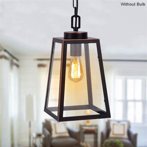 Hot sale Wide Pressure American Wrought Iron Glass Chandelier E26 Interface Black Painted Gold Painted Dining Light Chain Length 1M