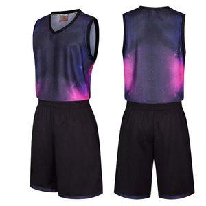 Men's basketball suit professional sportswear training Uniform Adult basketball suit breathing shorts