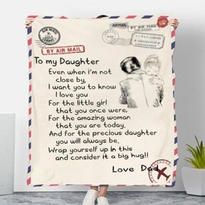 Coral Fleece Blanket Message Letter Personalized Printing Soft Warm Throw Blanket Message Letters Home Bedroom Textile SEA SHIPPING FWA2584