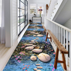 COBBLESTONE IMPRESSION 3D TRACKWAY TAPIS DOUBLINE FLANNEL ENFANTS Tapis / Tapis Moderne Home Area Tapis Tapis Corridor Tapis pour salon