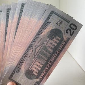 Simulation de vente chaude de barre de bar à chaud 20 dollars Faux Money Jouet Jouet Film et téléviseur Props Pratique Banknote