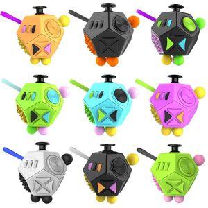 Fidget Dice Segunda geração Fidget Cubo Santo Cristal Mágico Cubo Anti Ansiedade Decompression Finger Brinquedos