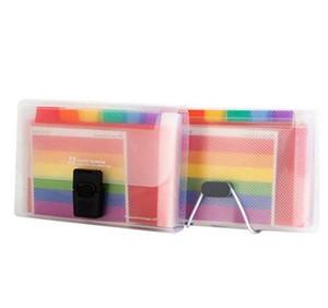 13 Grids A6 Document Bag Cute Rainbow Color Mini Bill Receipt File Bag Pouch Folder Organizer File Holde bbySZt lg2010