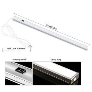 Fashion 30 40 50cm Motion Sensor Hand Scan LED Night light 5V USB Bar lamp Bedroom Desk lamp Reading home Kitchen Wardrobe Decor
