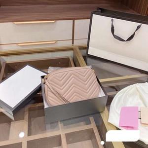 Sacs à main de luxe 3A de luxe avec boîte à portefeuilles Boîte Sacs à bandoulière en forme de coeur Chaîne dorée Sac à bandoulière Disco Sac de messager 025