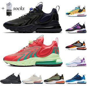 Reaccionar zapatos para correr para hombres Mujeres de primera calidad Bauhaus óptico Blanco ROGGING TRACULADOR HOMBRES TRANSPURTADORES DE COMPLETADOR DE Zapatillas deportivas con calcetines