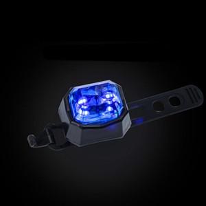 Велосипедные передние / задние светодиодные фонари водонепроницаемый ночной безопасности Предупреждение лампы велосипеда Форма велосипеда Форма хвоста с пряжкой крепко