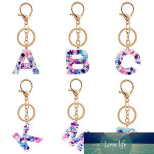 1 ADET Anahtarlık İngilizce Mektubu Anahtarlık İngilizce Kelime Renkli Glitter Reçine Akrilik Çanta Charms Kadınlar için Saydam Anahtar Yüzükler