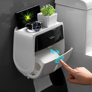 Waterproof Toilet Paper Holder Plastic Paper Towels Holder Tissue Storage Box Wall Mount Roll Holder Bathroom Organizer G-BOOGE Z1123