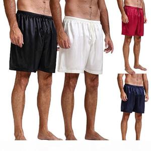 HIRIGIN Mens Silk Satin Pajamas Pyjamas Shorts Lounge Beach Shorts Boxer Free Sleep Bottoms S~XL