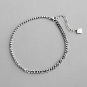 100% 925 sterling silver asymmetric chain female anklet bracelet on the leg , vintage beads anklets for women foot jewelry