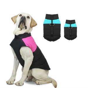 New Waterproof Big Dog Vest Jacket Winter Warm Pet Dog Clothes For Small Large Dogs Puppy Pug Coat Dogs Pets Clothing