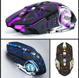 hot Q13 Wireless Charging Gaming Mouse Silent Luminous Mechanical Mouse mechanical Mice computer accessories dhl free