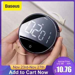 Baseus Magnetic Digital Timer for Kitchen Cooking Shower Study Stopwatch LED Counter Alarm Clock Manual Electronic Countdown Q1123 Q1124