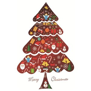 Christmas Wall Decorative Sticker Christmas Tree wall Sticker Window Glass Decoration Decorations Party Supplies