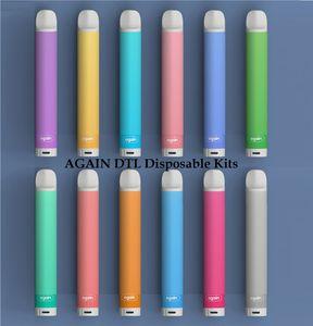 Original AGAIN DTL Disposable 300Puffs Vape Pen 2.8ml Pre-Filled Pods Cartridge Vapor Top Battery e Cigarettes Vaporizers DHL