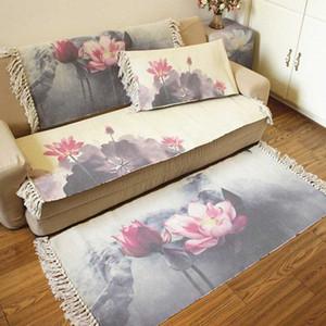 Classical Nordic Cotton Linen Tassel Woven Floor Mat Door Bedroom Tapestry Decor Blanket Living Room Carpet Area Rug Royalty Ca 8iya#