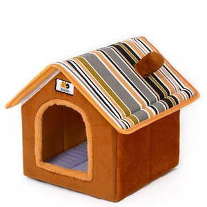 Pet Dog Cat House Tent Kennel Doggy Winter Warm Bed Cave Fit Small Cats Dogs Bed dog pet kennel cat winter warm house