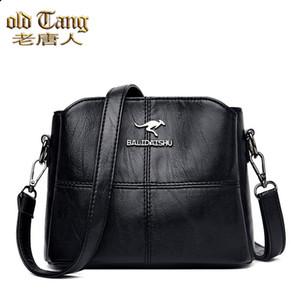 Old Tang Women Bolsa de asas de color sólido PU Cuero de la PU Bolsos de las señoras Bolsos para las mujeres 2020 Bolsa de hombro Pequeñas bolsas Crossbody SAC A PRINCIPAL C0117