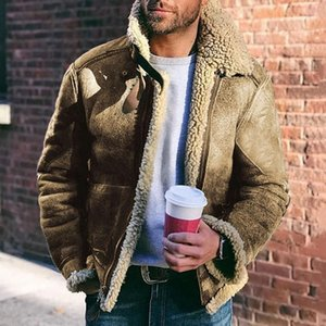 Hirigin Winter Men Casual Birtish Style Faux Fur Lapel Long Puffy Jacket Male Plus Size Thicken Parka Lot Winter Warm Coat