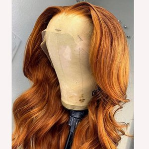 13x4 6 Lace Part Wig Orange Water Wave Wig For Black Women With Baby Hair 26 Inch Malaysia Human Hair Wig