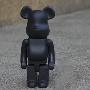 2 Colors 400% Bearbrick black White Violent Bear Handmade Model Toys Desktop Decorations Child Birthday Christmas Gifts