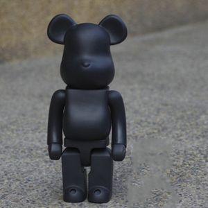 2 Colors 400% Birthday Decorations White Handmade Bear Bearbrick Model Toys Desktop Child Christmas Black Gifts Violent Iaaow