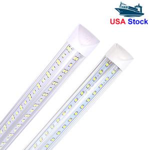 t8 v shape 8ft tube light 4FT 36W 5FT 45W 6FT 56W 8FT 72W Integrated Cooler Door Led Fluorescent tube light