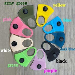 9 Colors Sponge Mask Reusable Fashion Designer Face Mask Luxury Protective Face shields Washable Adult Black Filter Masks individual packing