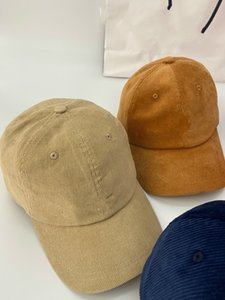 Fashion-kangaroo Men's designer corduroy baseball versatile fashion sunscreen soft top cap