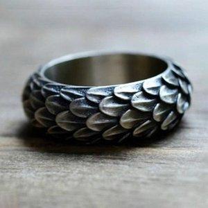 Dropshipping Viking Ring Norse Viking Dragon Balances Ring Scandinavian Bijoux Feather BragonsCale Anneaux pour Femmes Men Amenle