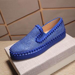 Plattformschuhe funkelnd diamant blau rot weiß schwarz designer sneakers echtes leder casual schuhe für männer frauen