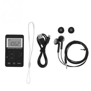 Hanrongda Mini Radio Portable AM / FM Dual Band Stereo Pocket Radio Ricevitore con batteria Display LCD Auricolare HRD-103