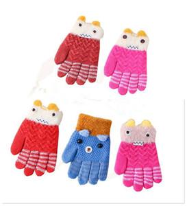 new Children Magic Gloves Fashion Kids Warm Wnter Knit Gloves Boy Girl Colored ski Slip-Proof Glove