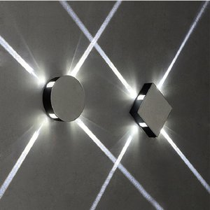 Lámpara de pared de LED cuadrada de 12W cuadrada de 12W de alta calidad de alta calidad AC85-265V Aluminio Sconce KTV Bar Corridor Porch Decore la luz de la pared