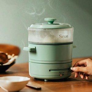 600 واط وعاء الطبخ الكهربائي المحمولة متعدد المشاكل الطي وعاء الساخنة سبليت نوع طنجرة الأرز مقلاة كهربائية مقلاة للمنزل السفر 220 فولت