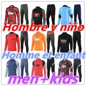 2020 2021 Mens + Kids Football Tracksuit Soccer Tracksuit Training Tuta Kit 20 21 Tuta da calcio Survedement Foot Chandal Tuta Jogging