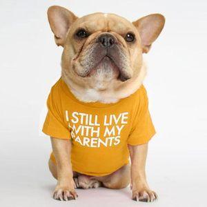 T-shirt à col rond de vêtements pour chiens de compagnie de chien T-shirt de mode chiot chiot lettre de chiot