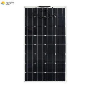 태양 전지 패널 100W 200W 300W PV 세미 플렉시블 패널 태양 모노 태양 전지 광전지 모듈 단결정 12V 키트