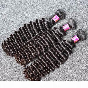 8-30inch Peruvian Virgin Hair Natural Color Deep Wave Human Hair Extension 3pcs lot High Quality Hair Weft Free Shipping