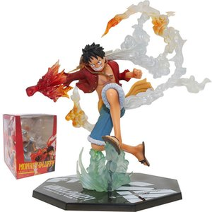Anime One Piece Fight Fire Fist Luffy Ace Figurine Roronoa Zoro Action Figures Diable Jambe Sanji PVC Collection Model Toys Q1217
